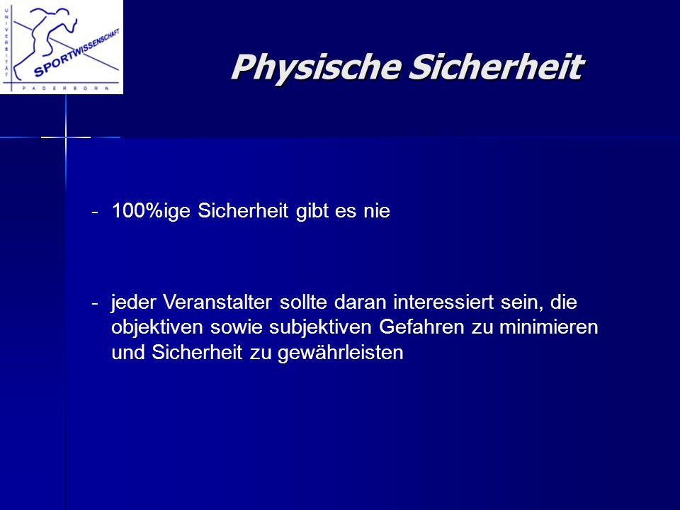 Physische Sicherheit - 100%ige Sicherheit gibt es nie