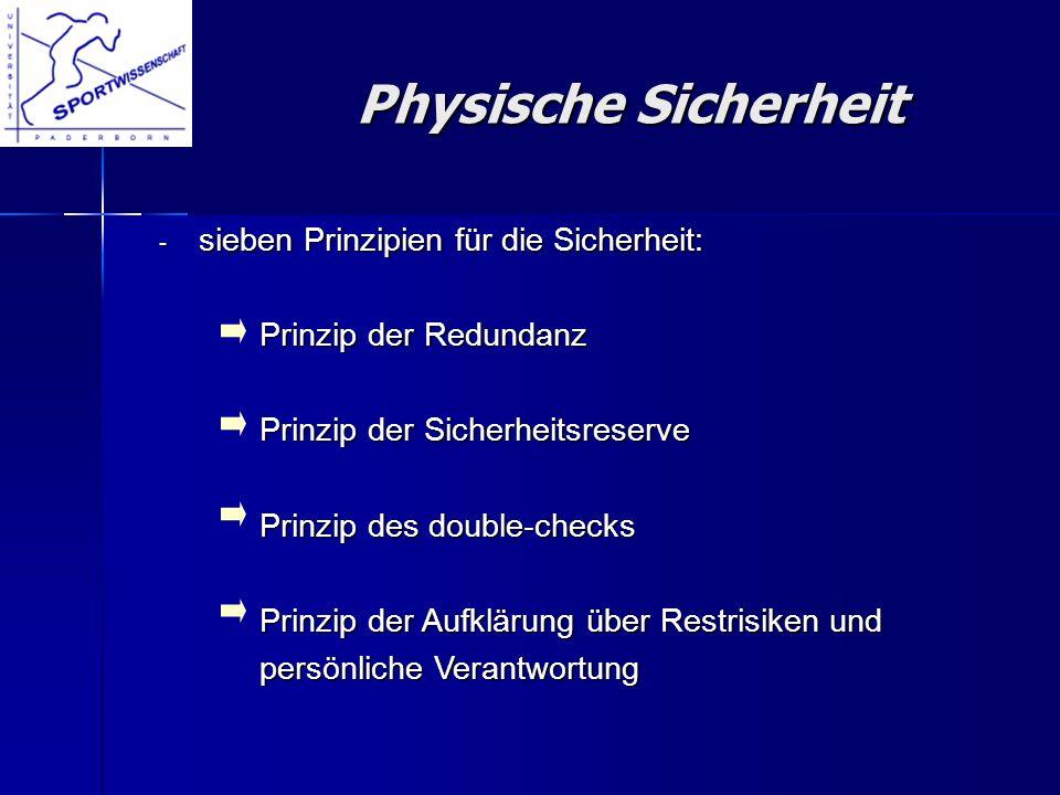 Physische Sicherheit sieben Prinzipien für die Sicherheit: