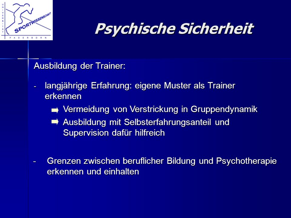 Psychische Sicherheit