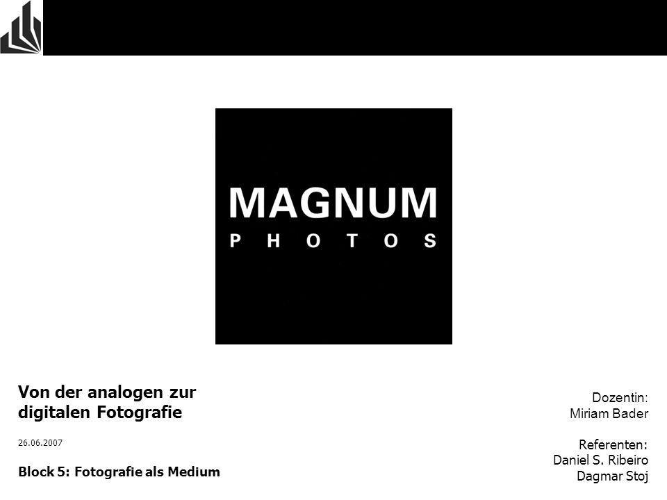 Von der analogen zur digitalen Fotografie