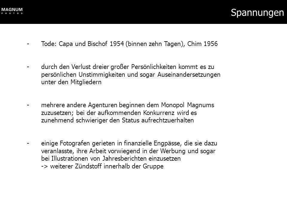 Spannungen Tode: Capa und Bischof 1954 (binnen zehn Tagen), Chim 1956