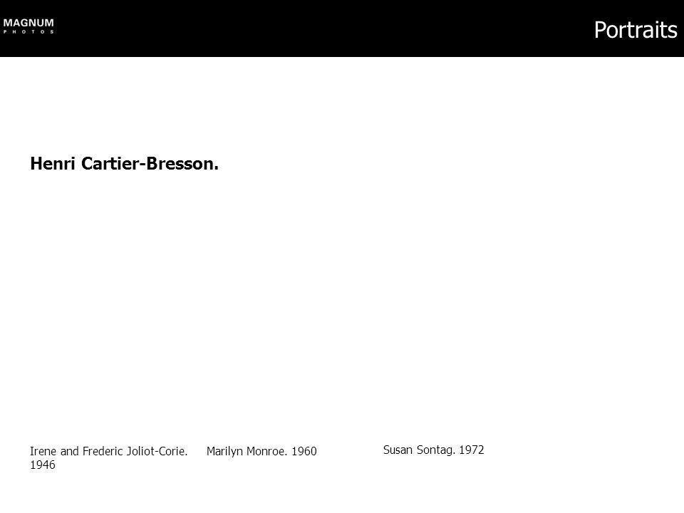 Portraits Henri Cartier-Bresson. Irene and Frederic Joliot-Corie. 1946