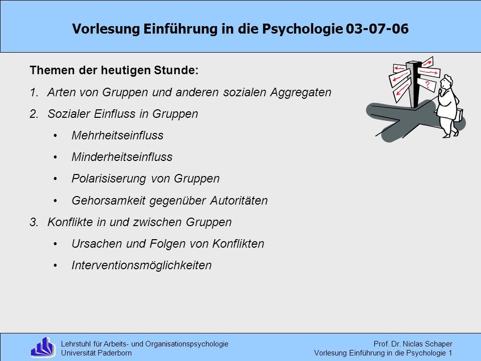 Vorlesung Einführung in die Psychologie 03-07-06
