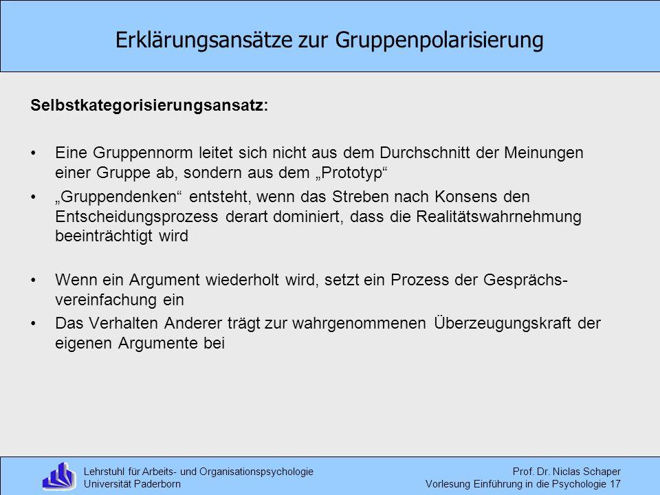 Erklärungsansätze zur Gruppenpolarisierung