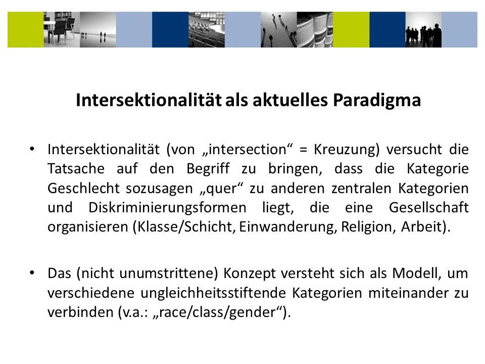 Intersektionalität als aktuelles Paradigma