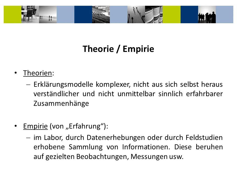 Theorie / Empirie Theorien: