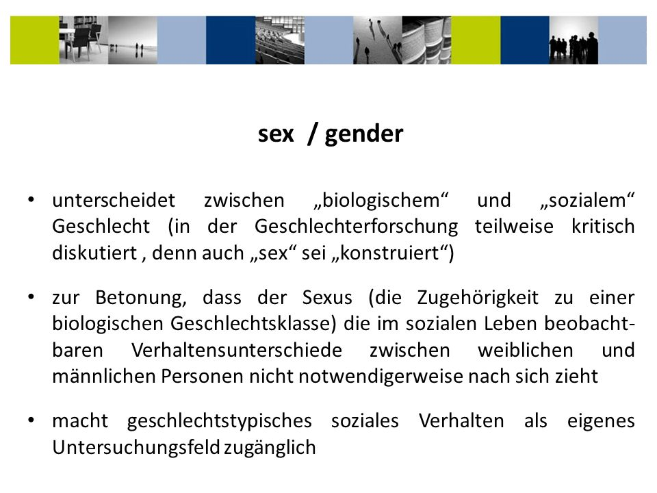 sex / gender
