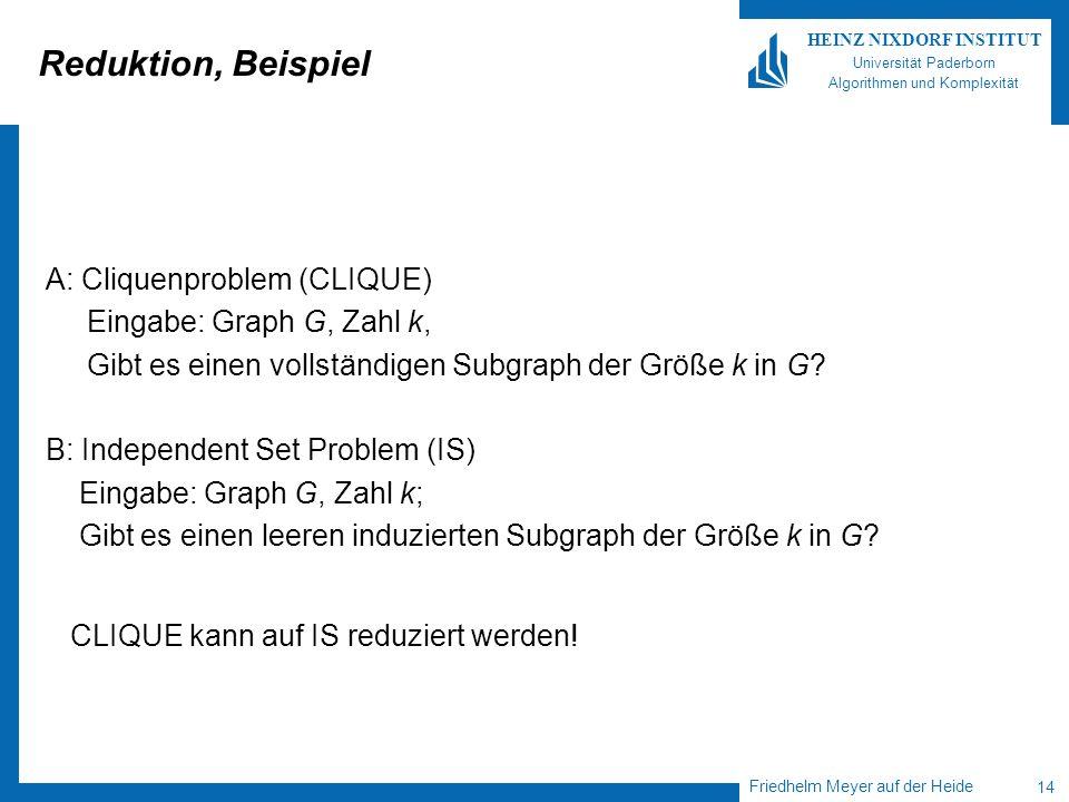 Reduktion, Beispiel A: Cliquenproblem (CLIQUE)