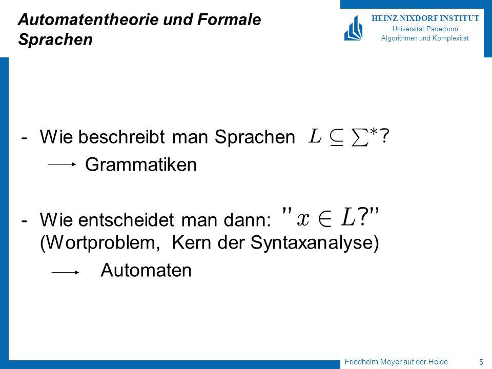 Automatentheorie und Formale Sprachen
