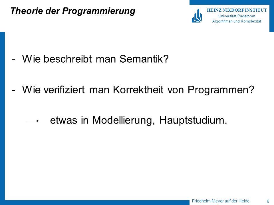 Theorie der Programmierung