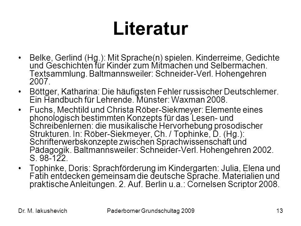 Paderborner Grundschultag 2009