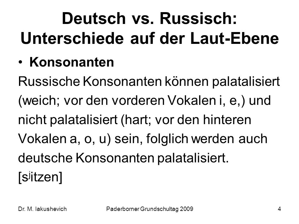 Deutsch vs. Russisch: Unterschiede auf der Laut-Ebene