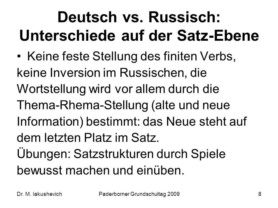Deutsch vs. Russisch: Unterschiede auf der Satz-Ebene