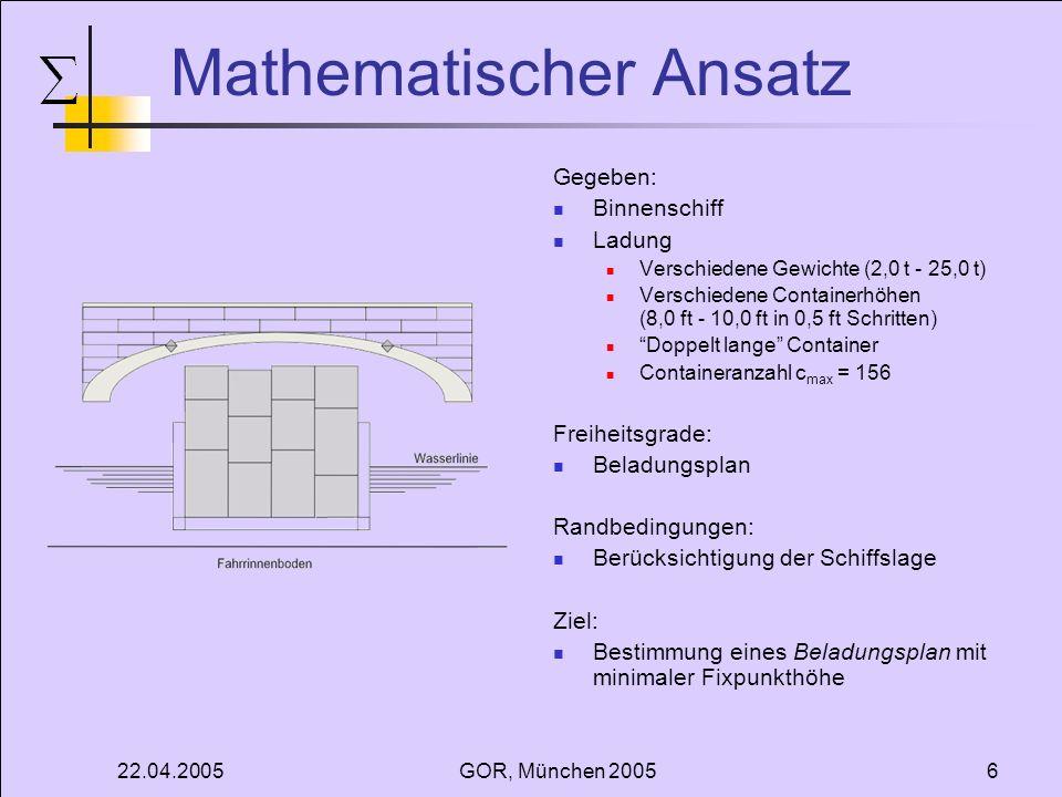 Mathematischer Ansatz