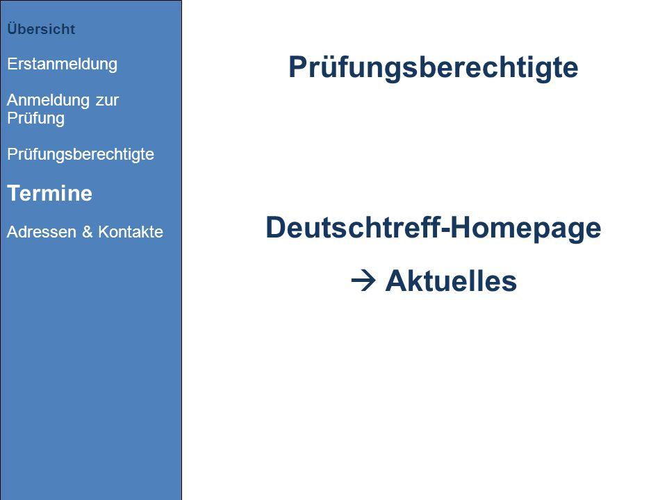 Deutschtreff-Homepage