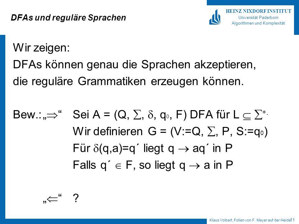 DFAs und reguläre Sprachen