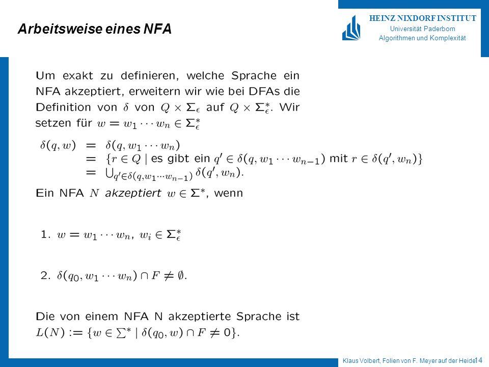 Arbeitsweise eines NFA