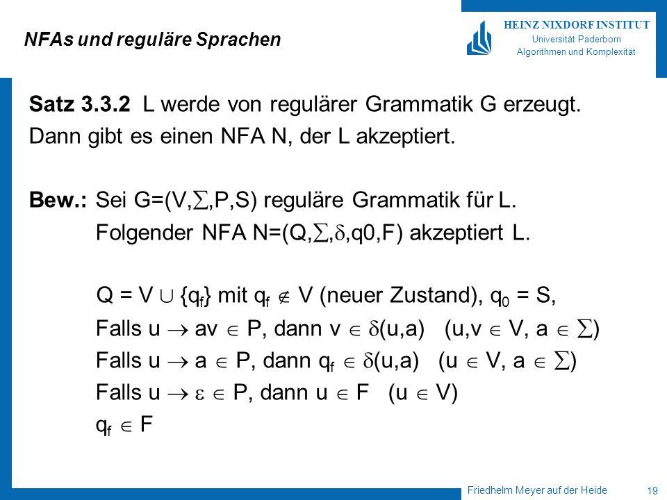 NFAs und reguläre Sprachen