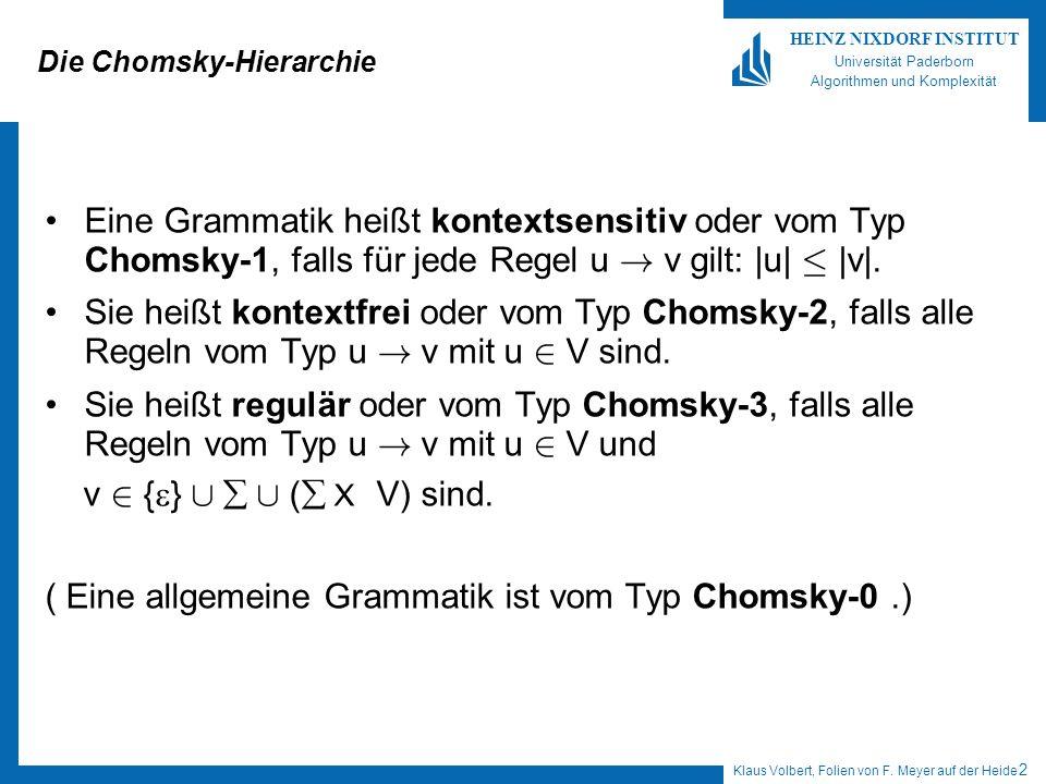 Die Chomsky-Hierarchie