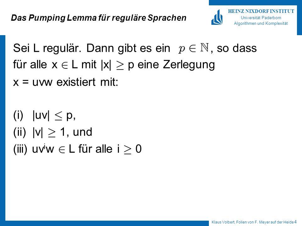 Das Pumping Lemma für reguläre Sprachen