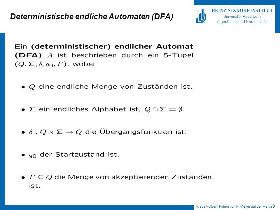 Deterministische endliche Automaten (DFA)