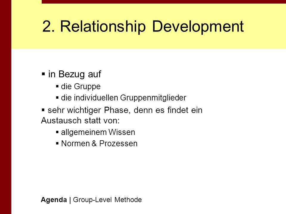 2. Relationship Development