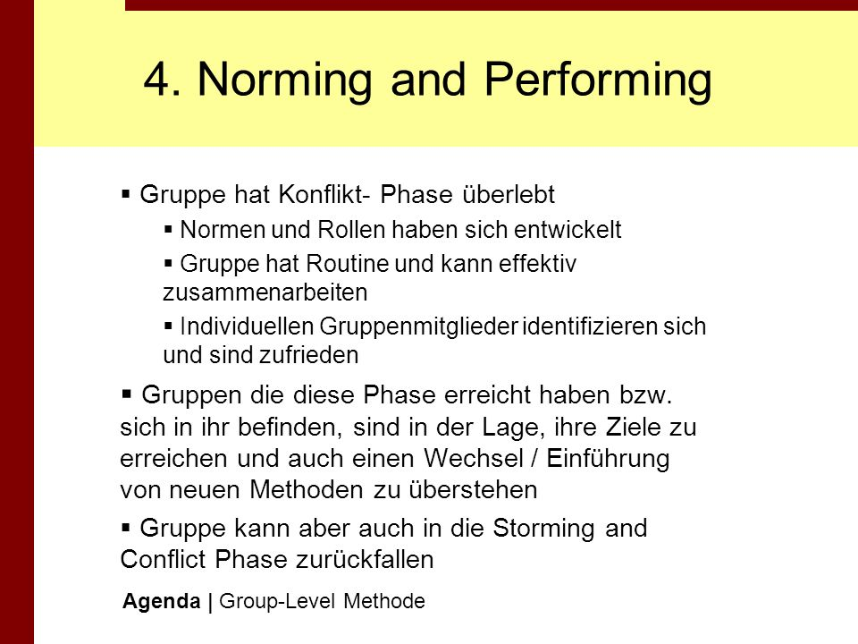4. Norming and Performing