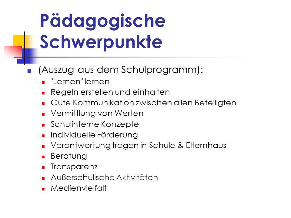 Pädagogische Schwerpunkte