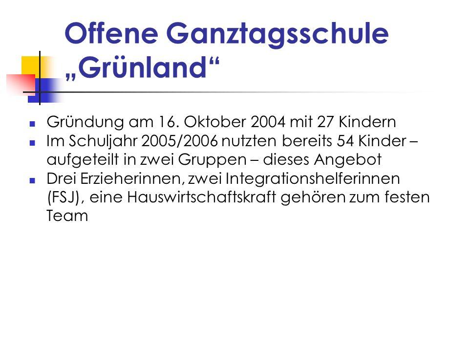 """Offene Ganztagsschule """"Grünland"""