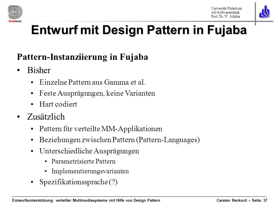 Entwurf mit Design Pattern in Fujaba