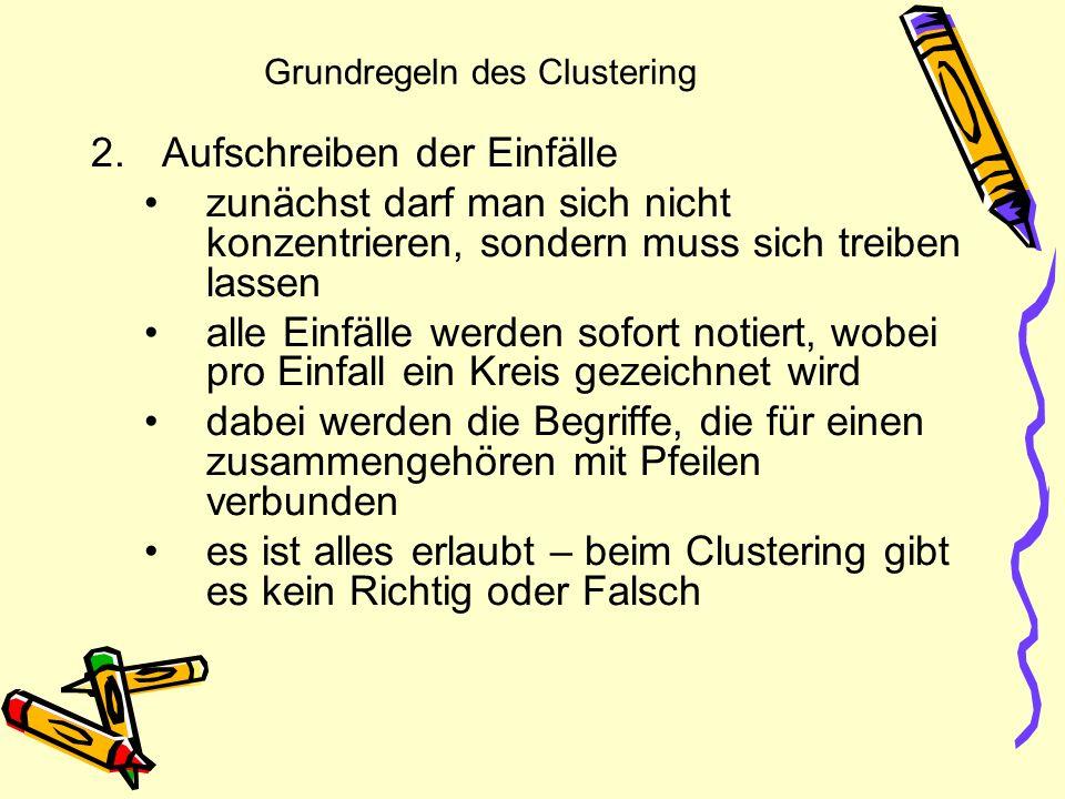 Grundregeln des Clustering