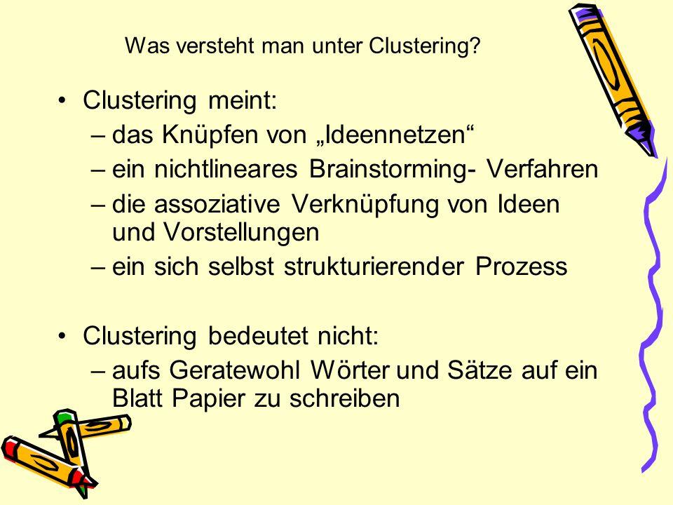 Was versteht man unter Clustering