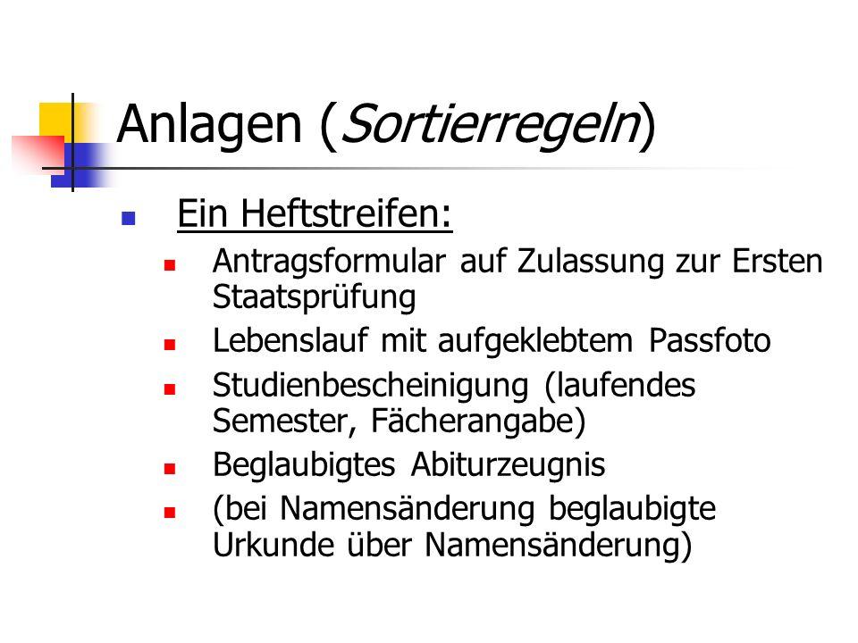 Anlagen (Sortierregeln)