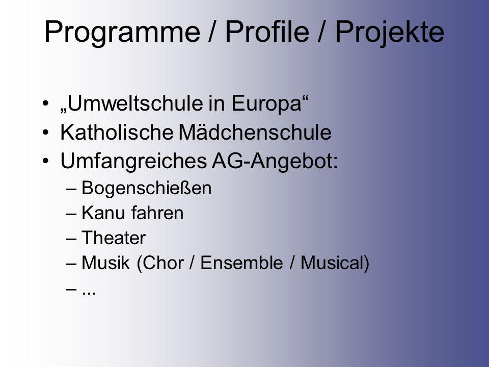 Programme / Profile / Projekte