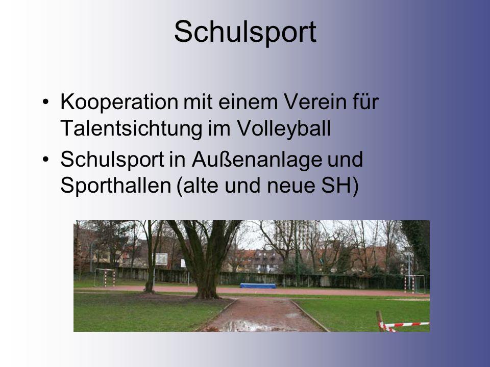 Schulsport Kooperation mit einem Verein für Talentsichtung im Volleyball.
