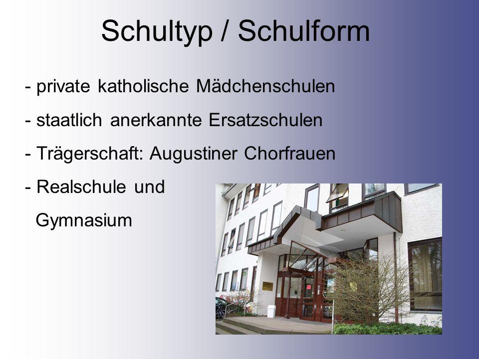 Schultyp / Schulform private katholische Mädchenschulen