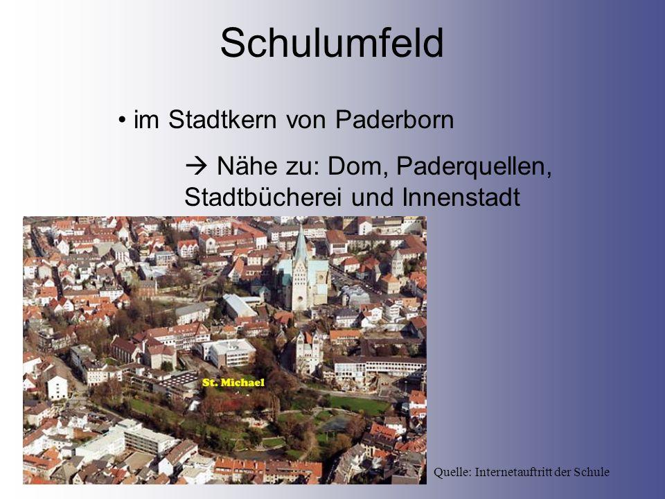 Schulumfeld im Stadtkern von Paderborn