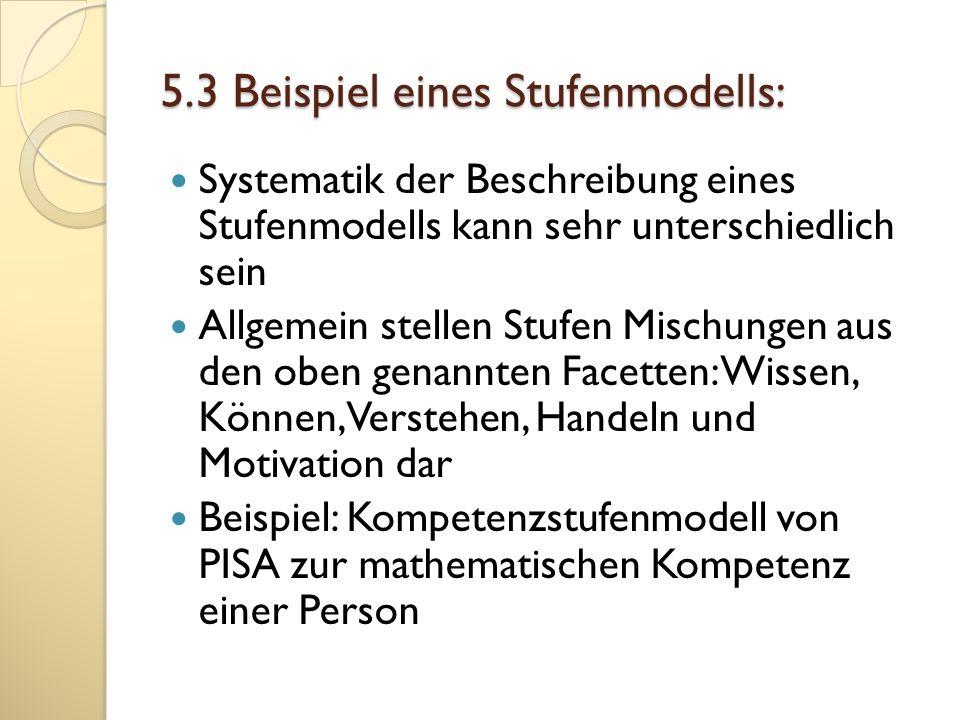 5.3 Beispiel eines Stufenmodells: