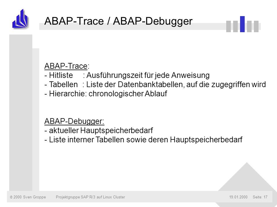 ABAP-Trace / ABAP-Debugger