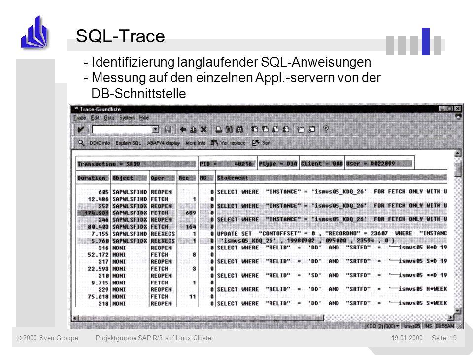 SQL-Trace - Identifizierung langlaufender SQL-Anweisungen