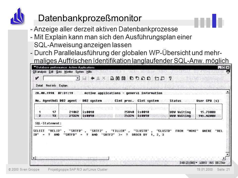Datenbankprozeßmonitor