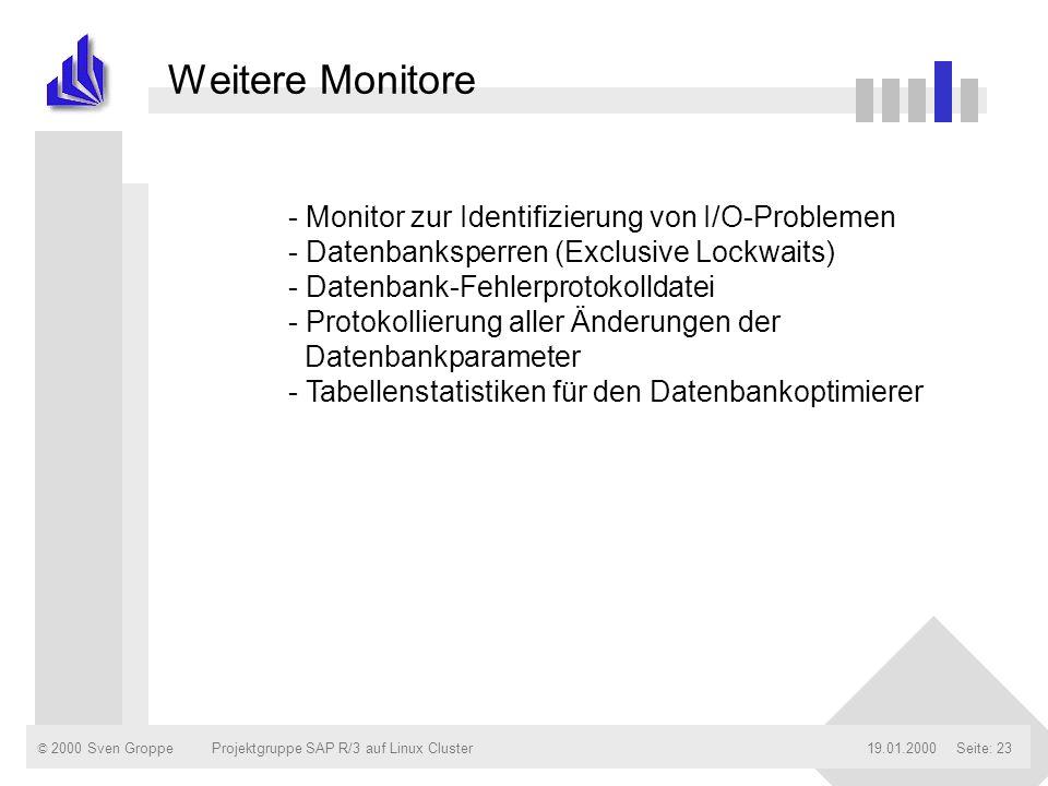Weitere Monitore Monitor zur Identifizierung von I/O-Problemen