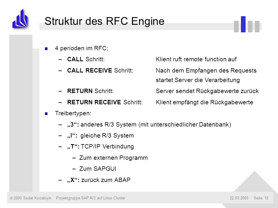 Struktur des RFC Engine