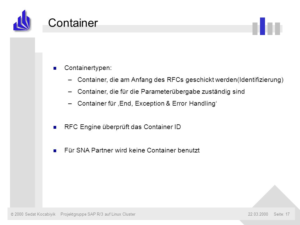 Container Containertypen: