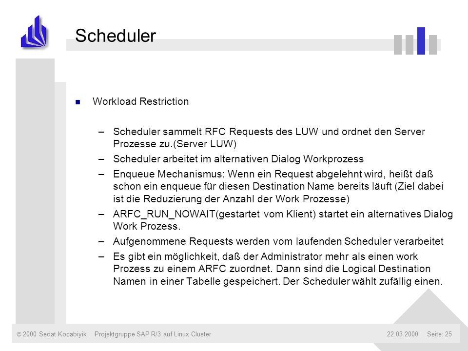 Scheduler Workload Restriction