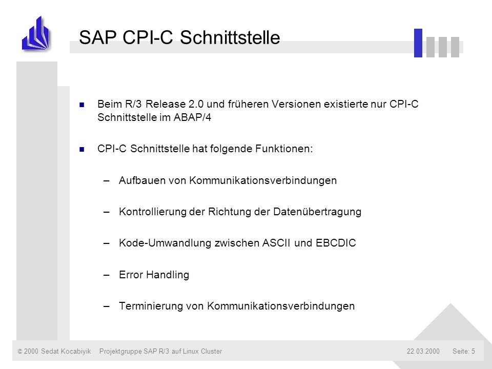 SAP CPI-C Schnittstelle