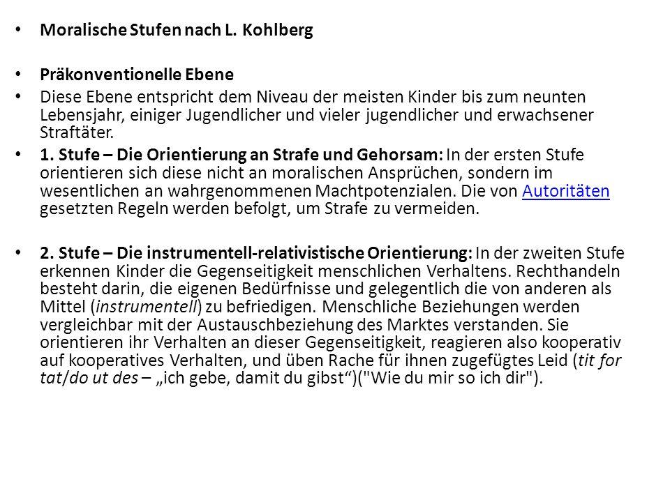 Moralische Stufen nach L. Kohlberg