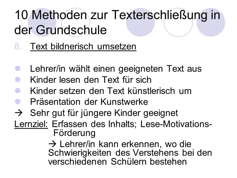 10 Methoden zur Texterschließung in der Grundschule