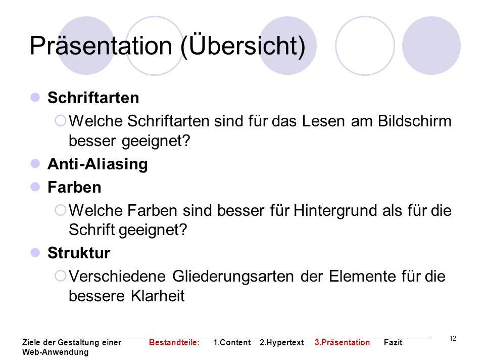 Präsentation (Übersicht)