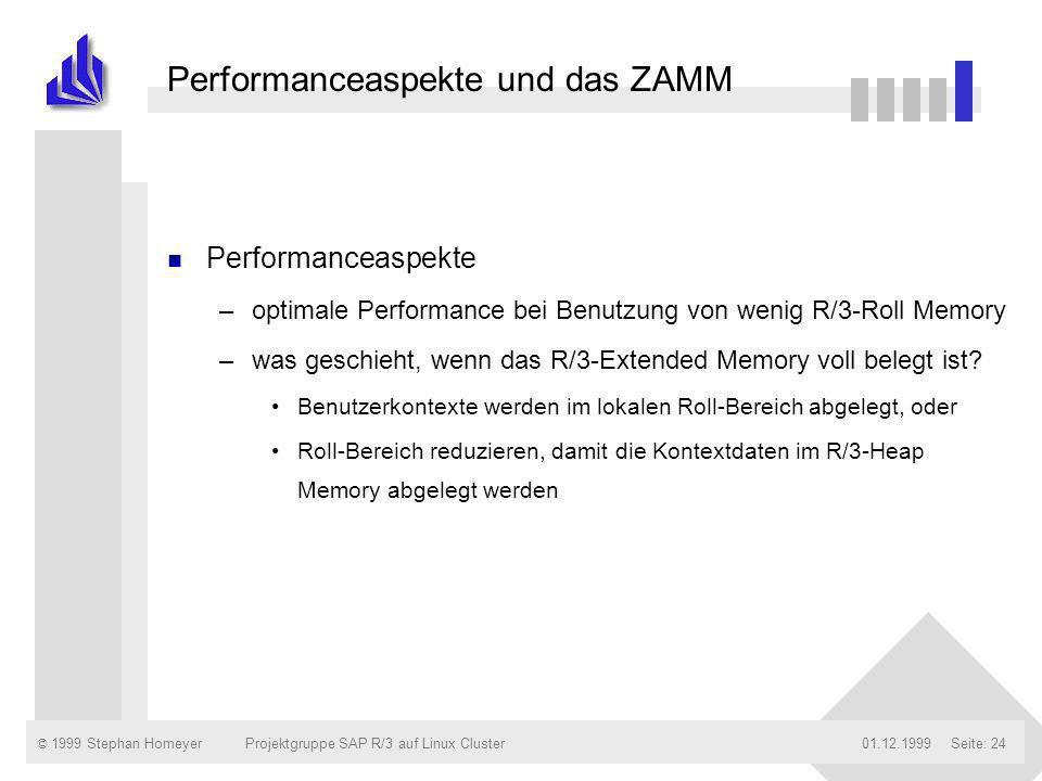 Performanceaspekte und das ZAMM
